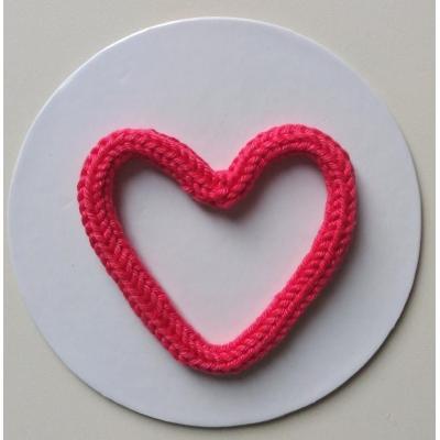 Coração Tricotim Pink G