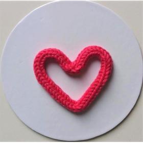 Coração Tricotim Pink P