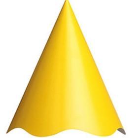 Chapéu de Festa Amarelo com pompom colorido