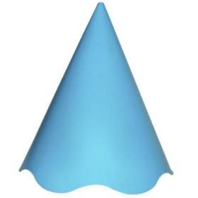 Chapéu de Festa Azul Claro com pompom colorido