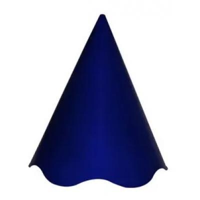Chapéu de Festa Azul Escuro com pompom colorido