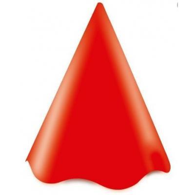 Chapéu de Festa Vermelho com pompom colorido