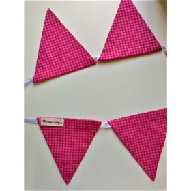 Bandeirola Triangular Xadrez Rosa