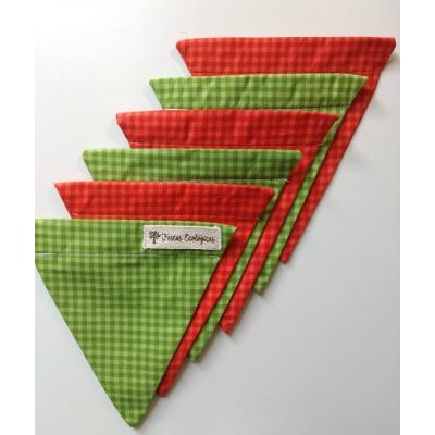 Bandeirola Triangular Xadrez Natal