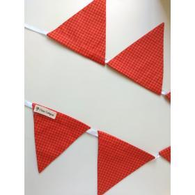 Bandeirola Triangular Xadrez Vermelha