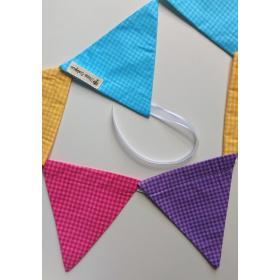 Bandeirola Triangular Mix Xadrez