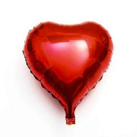 Balão Metalizado Coração Vermelho 25cm
