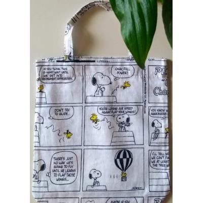Mini Ecobag Snoopy História em Quadrinhos