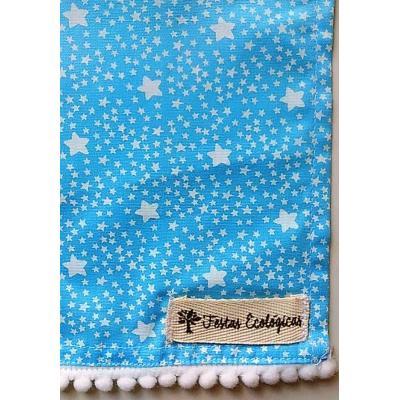 Toalha Estrelas Azul Bebê