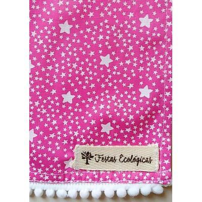Toalha Estrelas Rosa Chiclete