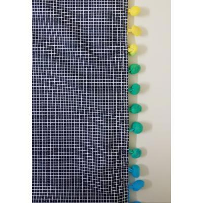 Toalha  Quadriculada Azul Marinho