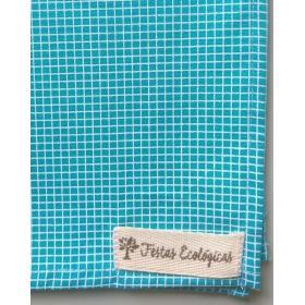 Toalha Quadriculada Azul Turmalina