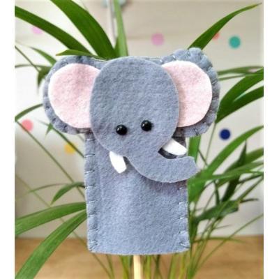 Topo de Bolo Dedoche Elefante