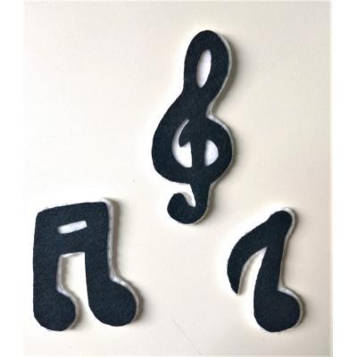Topo de Bolo Notas Musicais