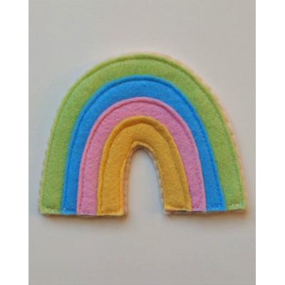 Topo de Bolo Arco Íris Candy