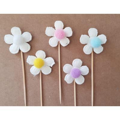 Topo de Bolo Flores Candy