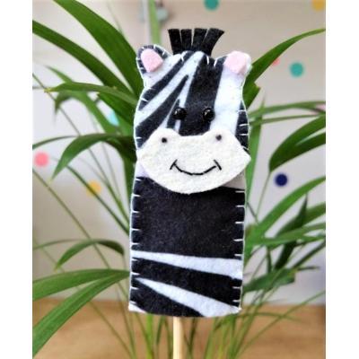 Topo de Bolo Dedoche Zebra