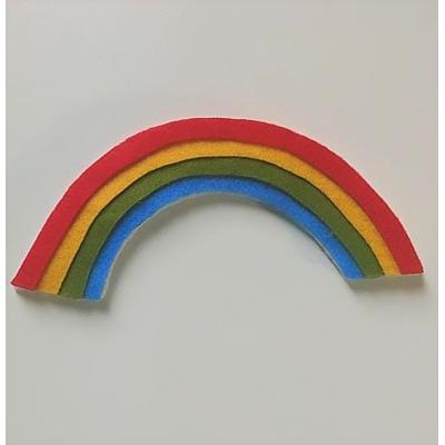 Topo de Bolo Arco Íris Color