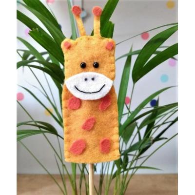 Topo de Bolo Dedoche Girafa
